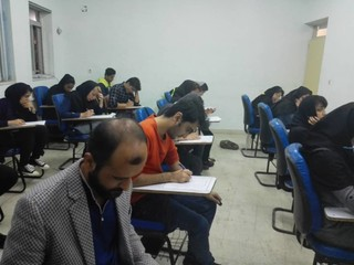 گزارش تصویری/ آزمون کتبی و عملی  کمکهای اولیههای در دانشگاه علمی کاربردی بوشهر