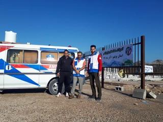 گزارش تصویری/پوشش خدمات پزشکی مسابقات المپیاد استعدادهای برتر قایقرانی پسران کشور در آبهای آرام بوشهر
