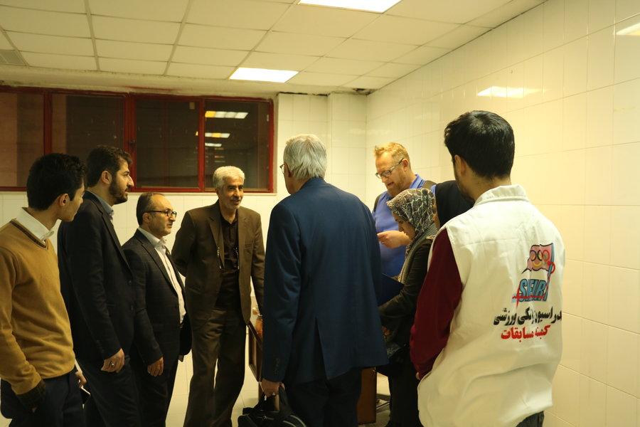 گزارش تصویری  _ بازدید نماینده فدراسیون جهانی والیبال از هیات پزشکی ورزشی آذربایجان غربی