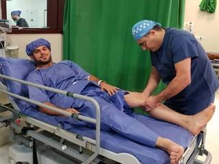 جراحی رباط صلیبی کشتی گیر آزادکار توسط دکتر توکلی