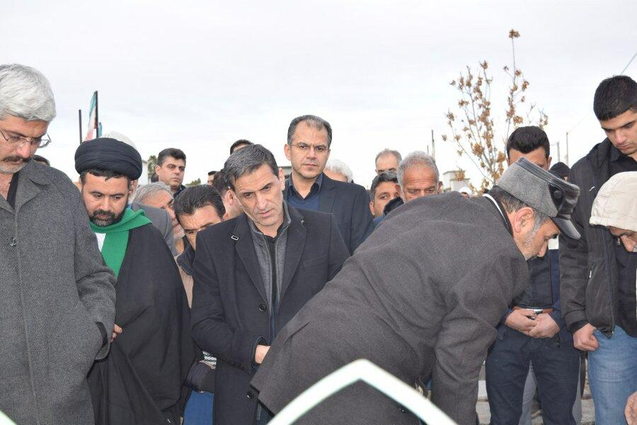 مراسم خاکسپاری پدر گرانقدر رئیس فدراسیون پزشکی ورزشی