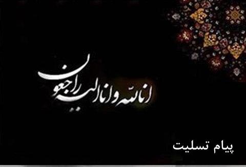پیام تسلیت مدیر کل ورزش وجوانان فارس به رئیس هیات پزشکی استان