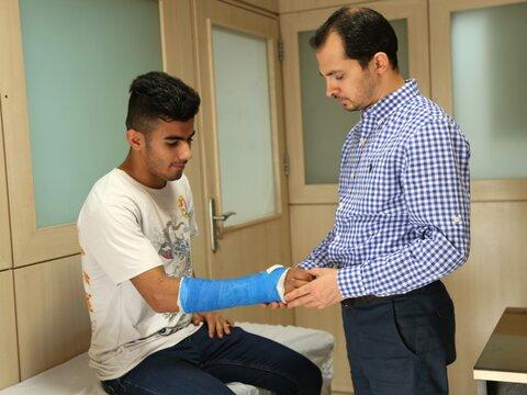 جراحی دست ملی پوش جوان بوکس