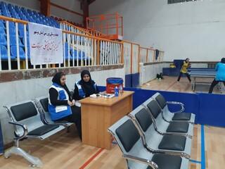 پوشش پزشکی ورزشی مسابقات تنیس تور ایرانی