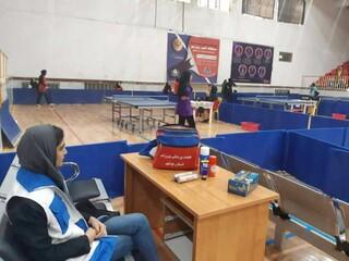 گزارش تصویری/ پوشش پزشکی مسابقات کشوری قهرمانی تنیس روی میز تور ایرانی دختر نوجوانان و جوانان کشوری به میزبانی استان بوشهر