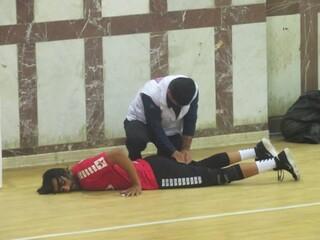 گزارش تصویری/ پوشش خدمات پزشکی مسابقات لیگ دسته اول هندبال کشور در دشتستان بزرگ