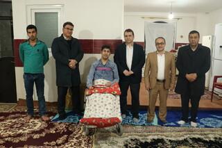 حضور دبیر فدراسیون در منزل حسین اسماعیلی ژیمناستیک کار خویی