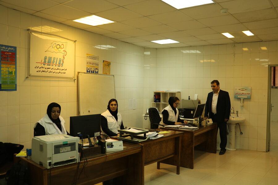 بازدید دبیر فدراسیون از هیات پزشکی ورزشی استان آذربایجان غربی