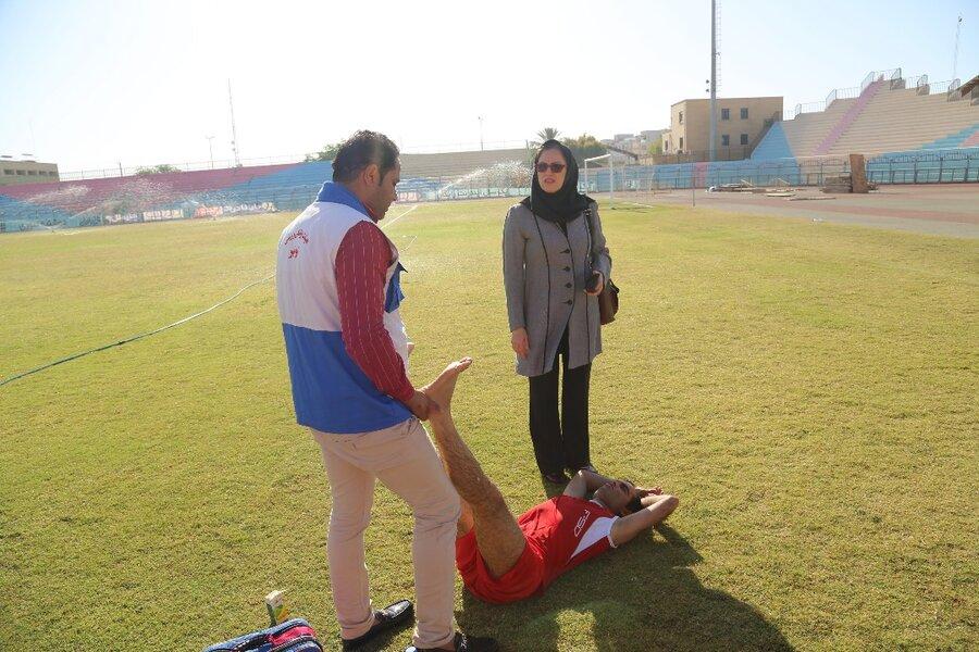 پوشش پزشکی سومین جشنواره ورزشی بازنشستگان در بوشهر