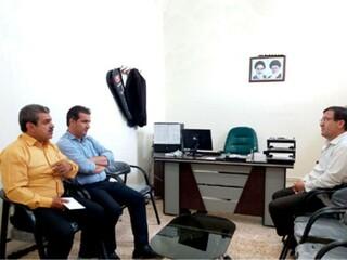 جلسه با رئیس شورا شهر سیروان
