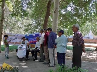 ایستگاه رایگان سلامت هیأت پزشکی ورزشی یزد
