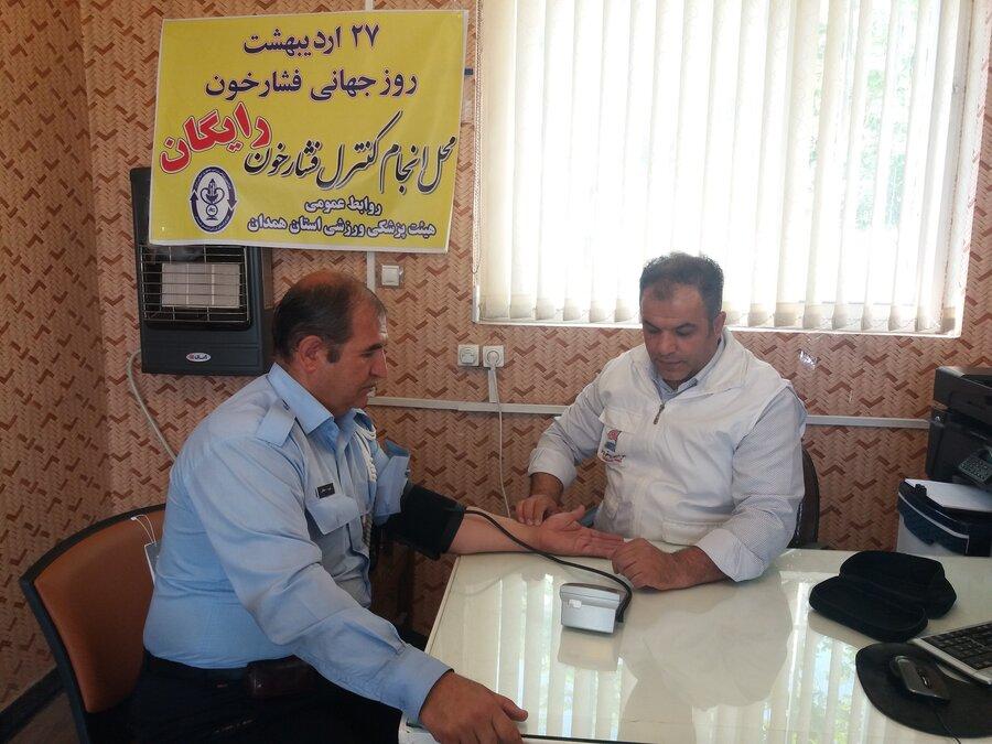 برپایی ایستگاه رایگان تندرستی هیات پزشکی ورزشی استان همدان