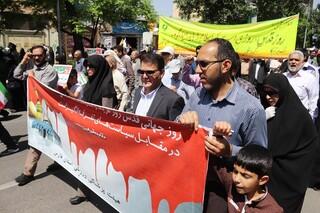 حضور هیات فارس در راهپیمایی روز قدس