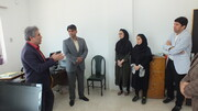 بازدید دکتر اسدپور از دفتر هیئت پزشکی ورزشی شهرستان بندرانزلی