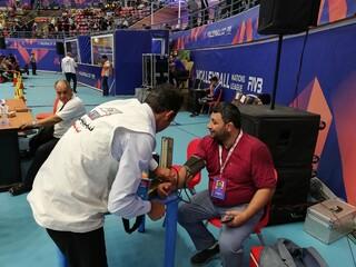 پوشش پزشکی لیگ ملت های والیبال 2019