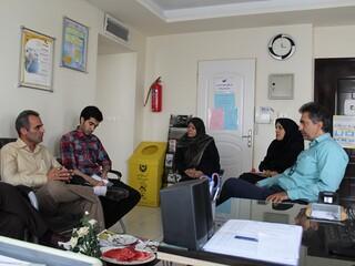 جلسه هماهنگی با رئیس اداره ورزش شهرستان البرز
