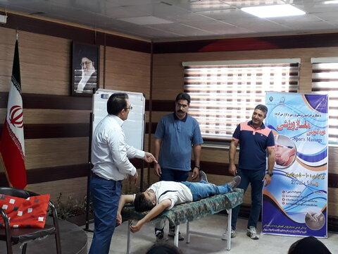 پایان کارگاه عملی ماساژ ورزشی در کرمانشاه