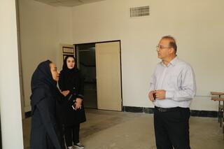 بازدید خانم دکتر نقی زاده کارشناس و ناظر معاونت درمان دانشگاه علوم پزشکی آذربایجان غربی از محل فیزیوتراپی هیات پزشکی ورزشی استان