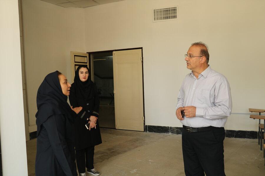 بازدید نماینده دانشگاه علوم پزشکی آذربایجان غربی از محل فیزیوتراپی پزشکی ورزشی