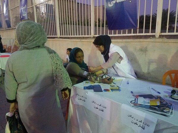 ایستگاه رایگان تندرستی هیئت پزشکی ورزشی استان هرمزگان برپا شد