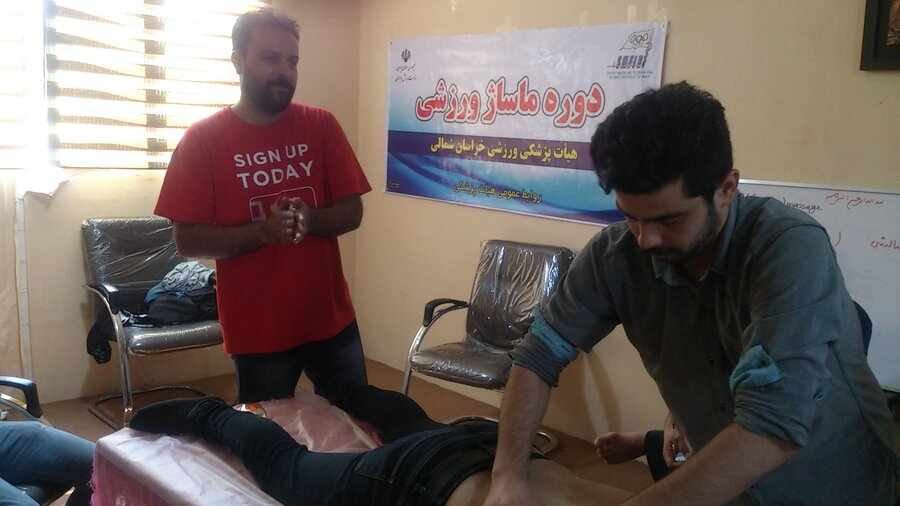 دوره عملی ماساژ ورزشی با حضور اساتید فدراسیون پزشکی ورزشی