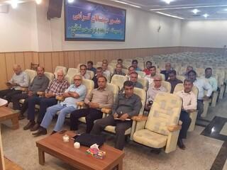 تدریس دکتر ستاری در کلاس ارزیابی قلبی داوران فوتبال استان هرمزگان