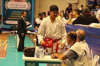 پوشش پزشکی پانزدهمین دوره مسابقات بین المللی کاراته در ارومیه