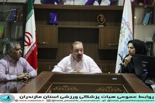 جلسه رئیس بهمراه کمیته های مختلف هیات پزشکی ورزشی استان مازندران جهت آماده سازی اولین کنگره سراسری رویکرد پزشکی ورزشی در آسیب