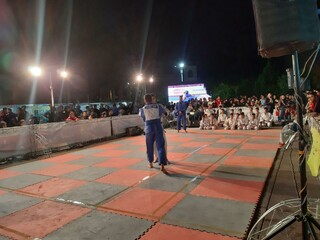 غرفه هیات پزشکی در جشنواره ونمایشگاه ورزش در یزد برپاشد.