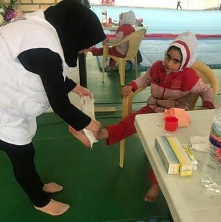 پوشش پزشکی مسابقات کاراته منطقه ای کشور