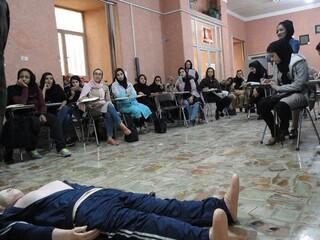 آموزش احیا پایه و کمک های اولیه ویژه شرکت کنندگان در دوره مربیگری هیأت همگانی -کرمان