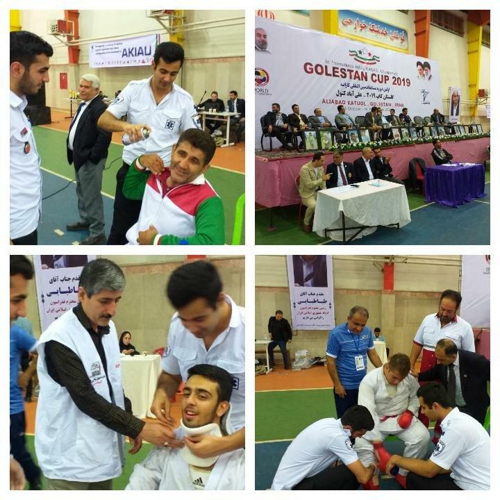 پوشش پزشکی مسابقات بین المللی کاراته کاپ ۲۰۱۹ در گلستان