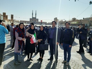 اعضای هیات پزشکی ورزشی یزد در مراسم استقبال رئیس جمهور حضور یافتند