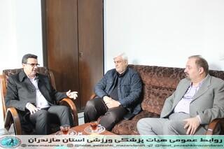 حضور و بازدید مدیر کل اداره ورزش مازندران در هیات پزشکی ورزشی استان (1).JPG