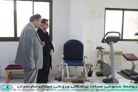 حضور و بازدید مدیر کل اداره ورزش مازندران در هیات پزشکی ورزشی استان (11).JPG