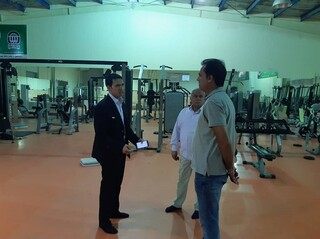 بازدید از اماکن ورزشی شهرستان بندرخمیر