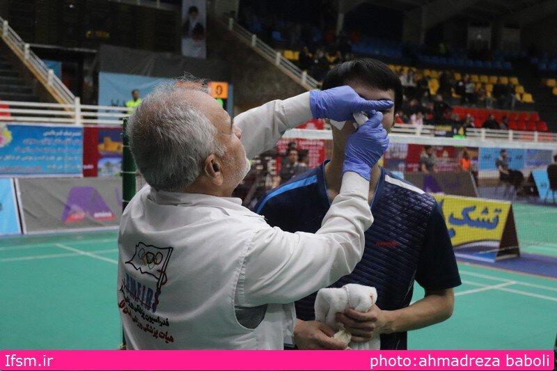 پوشش پزشکی مسابقات بین المللی بدمینتون جام فجر در شیراز