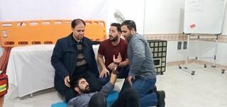 کارگاه آموزشی احیا وکمکهای اولیه ویژه امدادگران زنجان