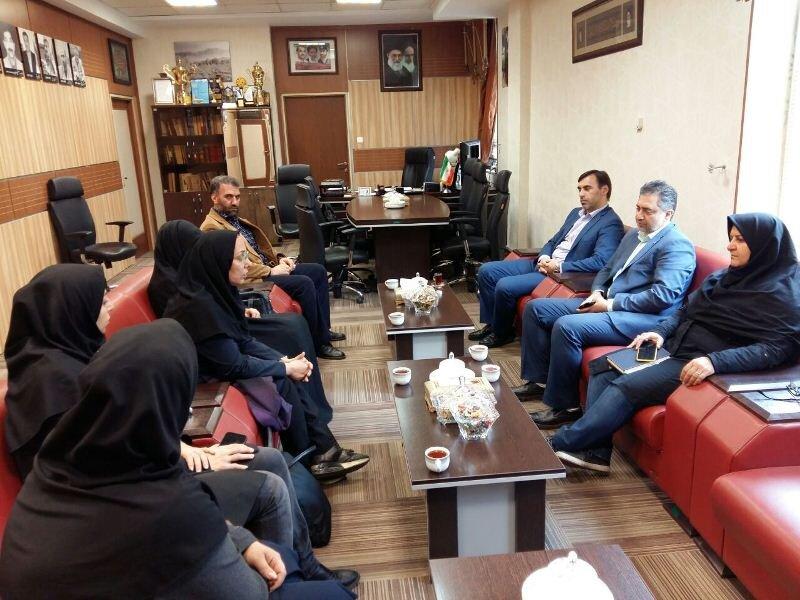 دیدار نایب رئیس فدراسیون پزشکی ورزشی با مدیرکل ورزش و جوانان استان قزوین