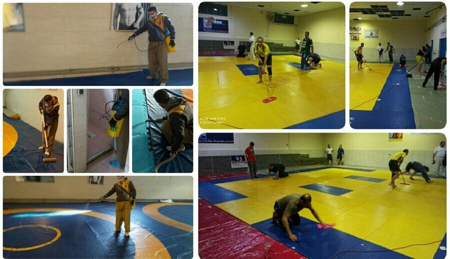 اماکن ورزشی سطح استان کردستان ضدعفونی شد