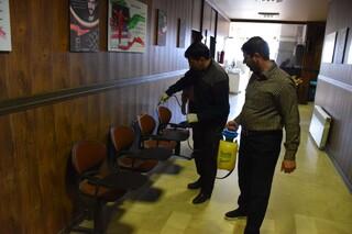 ضدعفونی اداره ورزش وجوانان وسالنهای ورزشی استان