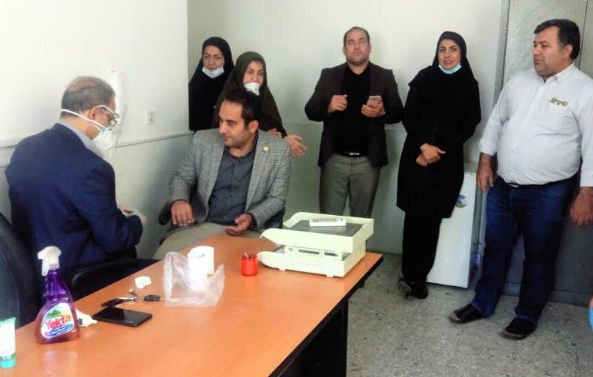 پایش سلامت جمعی از ورزشکاران و کارکنان اداره کل ورزش و جوانان  استان لرستان