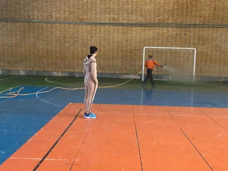 گندزدایی اماکن ورزشی استان- شهرستان های سمنان