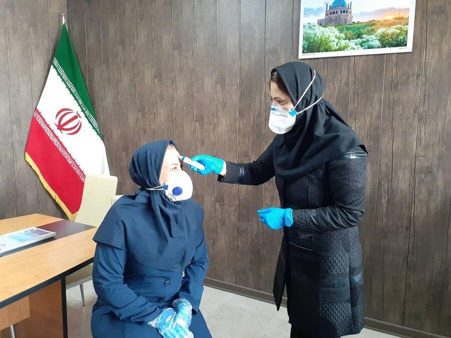 تست تب سنجی کارکنان اداره کل ورزش و جوانان و هیات پزشکی ورزشی استان زنجان