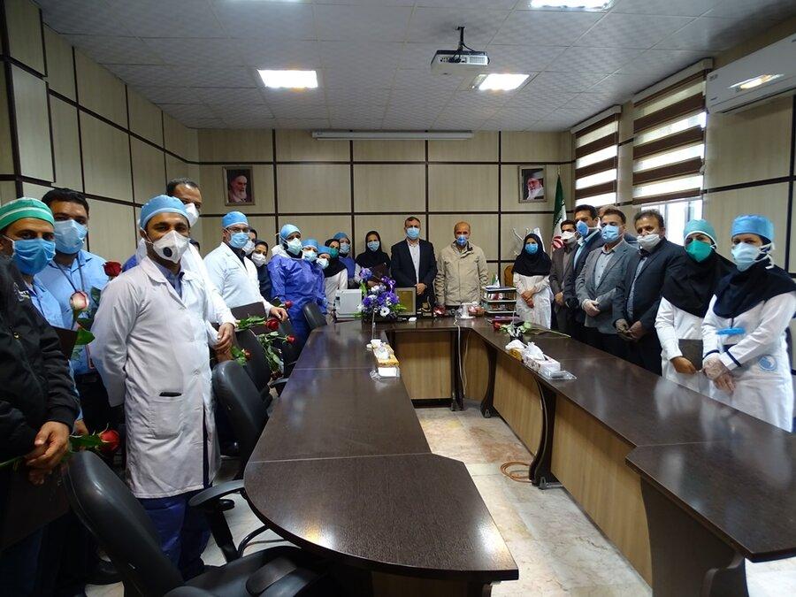 از مدافعان سلامت در بیمارستان حضرت علی اصغر (ع) شیراز قدردانی شد