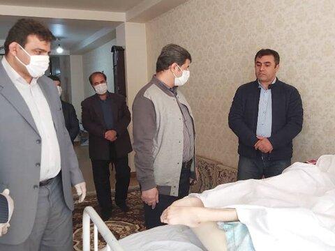 عیادت رئیس هیأت پزشکی ورزشی استان البرز از تکواندو کار آسیب دیده ی البرزی