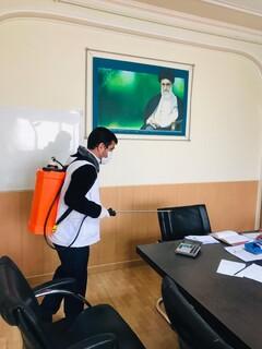 ضدعفونی و گندزدایی مستمر  اماکن اداری و ورزشی آذربایجان شرقی