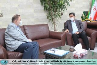 دیدار رئیس هیات پزشکی با مدیر کا اداره ورزش استان جهت بازگشایی اماکن ورزشی پس از مقابله با ویروس کرونا