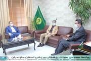دیدار رئیس هیات پزشکی ورزشی استان  با مدیر کل اداره ورزش و جوانان استان مازندران