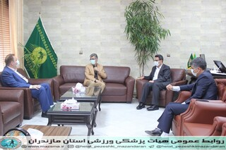 / گزارش تصویری /دیدار رئیس هیات پزشکی ورزشی با مدیر کل اداره ورزش و جوانان استان مازندران